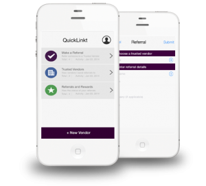 QuickLinkt Referral App for Realtors, Mortgage,