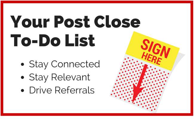 Your Post Close To-Do List
